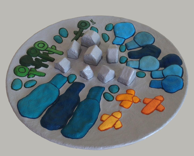 EVA ROUWENS - Assiette paysage - 27 cm