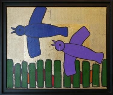 2 oiseaux - 38 x 46 cm