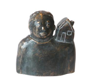 Minha casa - bronze - 13 cm