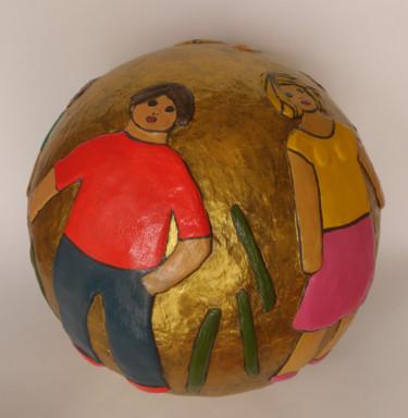 Tour du monde - résine - 30 cm