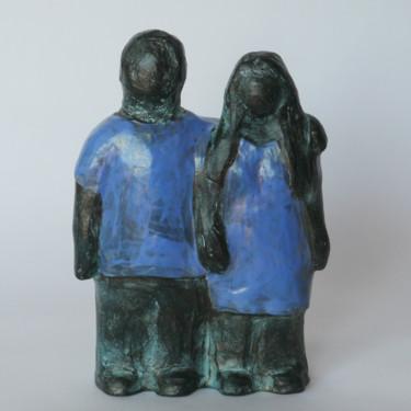 Couple bleu - 16 cm