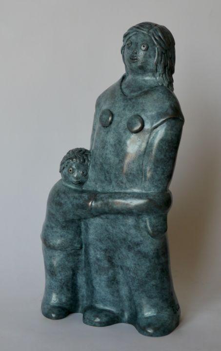 EVA ROUWENS - Hé maman -  bronze 2/8 - 27 cm