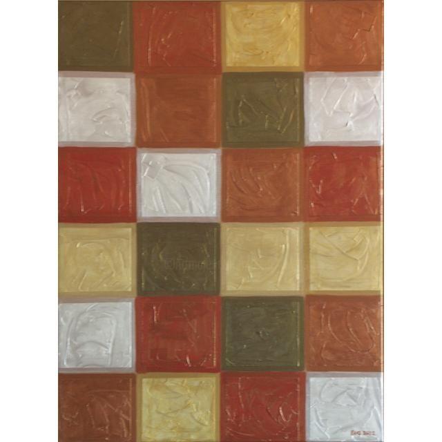 EVA ROUWENS - carreaux ors - 80 x 60 cm