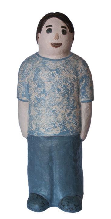 EVA ROUWENS - Grand frère - résine 67 cm