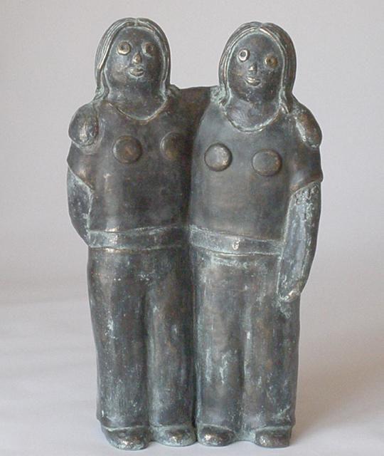 EVA ROUWENS - Les jumelles - bronze 1/8 29 cm