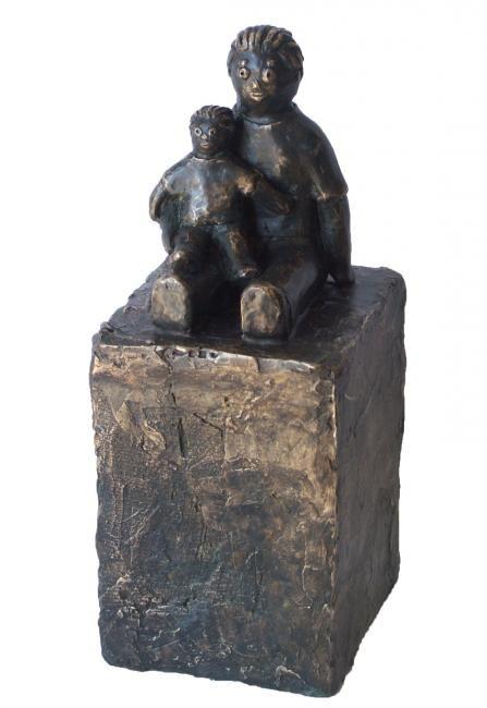 Vader en zoon - bronze P.U. 22 cm