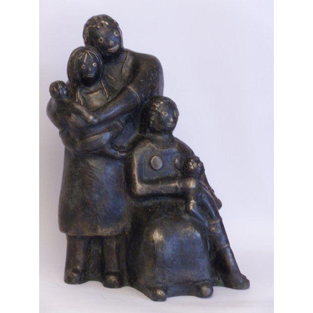 EVA ROUWENS - Famille  - bronze 1/8 - 25 cm