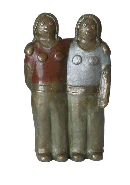 EVA ROUWENS - Les jumelles  - bronze 2/8 29 cm