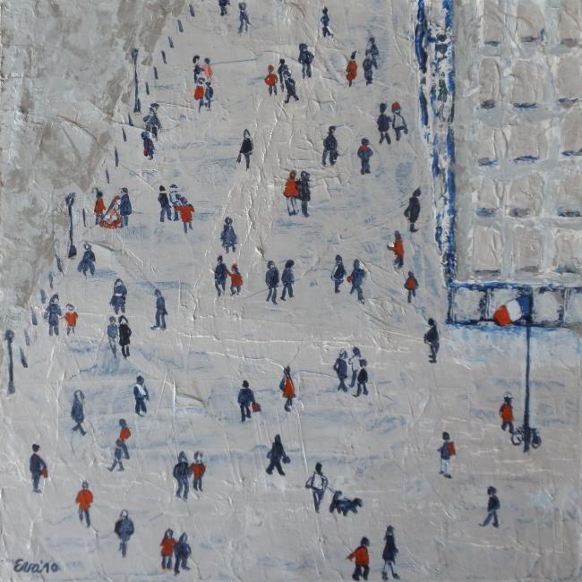 EVA ROUWENS - Devant Beaubourg