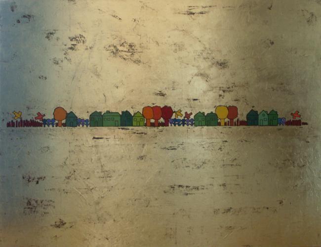 EVA ROUWENS - Terre dorée 116 x 89 cm