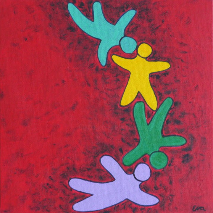 EVA ROUWENS - Vier - 20 x 20 cm