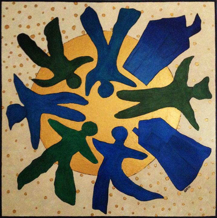 EVA ROUWENS - CHAOS 80 x 80 cm