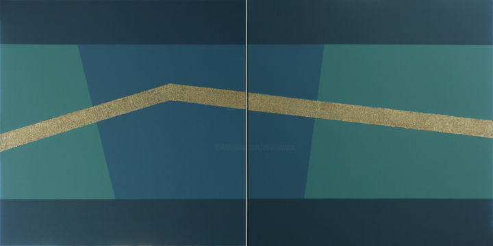 LA LIGNE BLEUE 1 & 2 - 160 x 80 cm