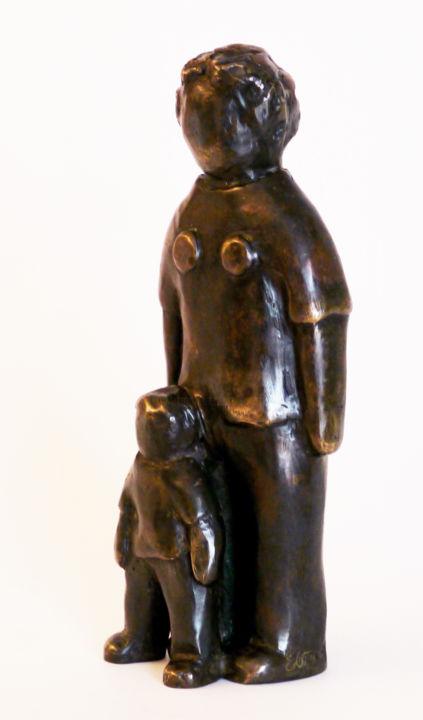 EVA ROUWENS - Maman et fils - 21 cm