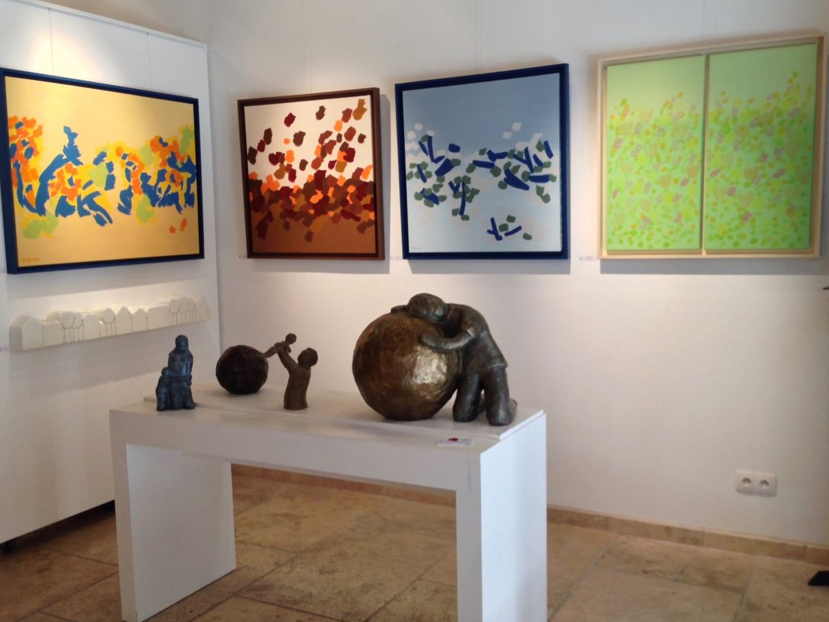 """1-eva-rouwens-6979.jpg Exposition individuelle """"Galerie de la Tour"""" dans le vieux Lyon."""