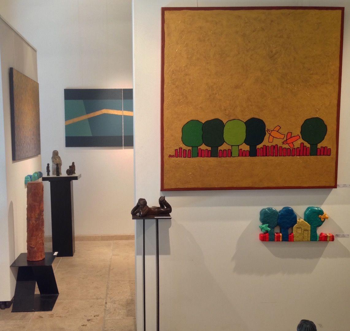 """2-eva-rouwens-6966.jpg Exposition individuelle """"Galerie de la Tour"""" dans le vieux Lyon."""