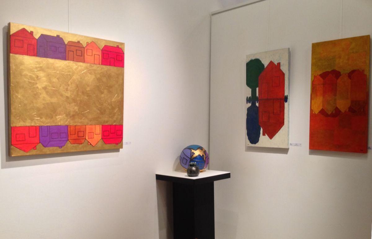 """4-eva-rouwens-6973.jpg Exposition individuelle """"Galerie de la Tour"""" dans le vieux Lyon."""